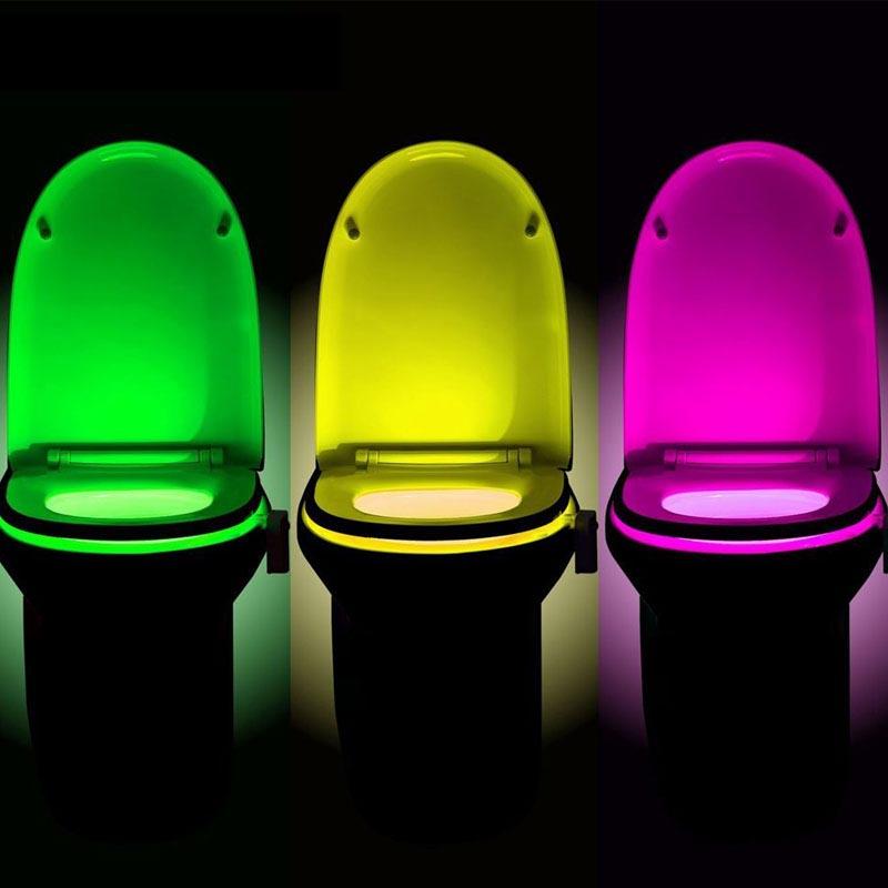 LED φωτιστικό με 8 χρώματα και αισθητήρα κίνησης για λεκάνη τουαλέτας - OEM 47763