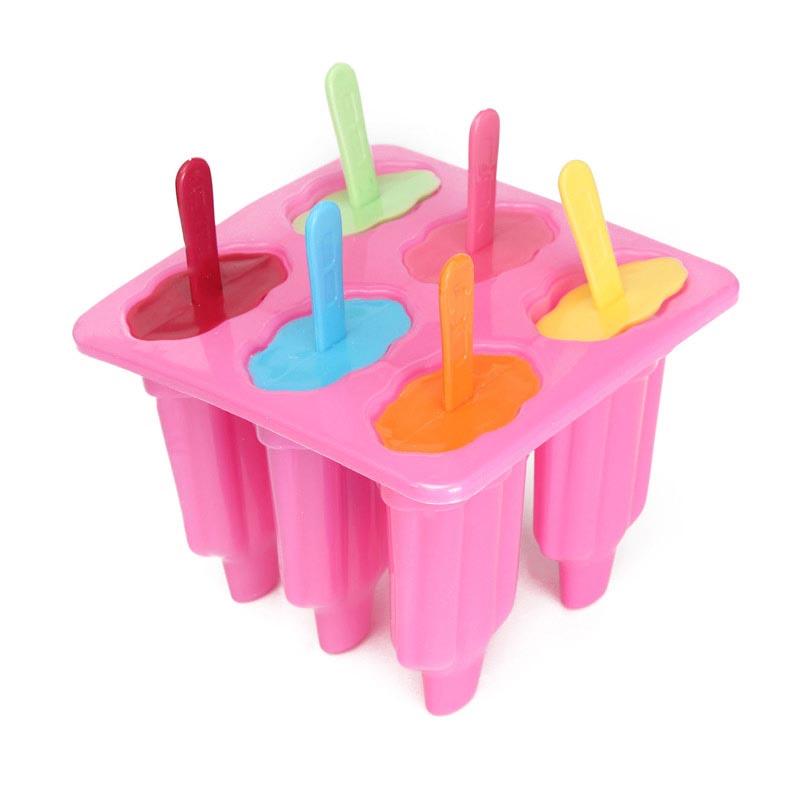 Παρασκευαστής για γρανίτες και παγωτά - Ice Lolly Maker - Ροζ - OEM 48873