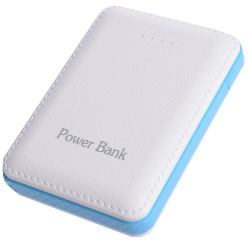 Power bank 5V/12000mAh με 3 θύρες USB - Λευκό/Γαλάζιο - OEM 49142