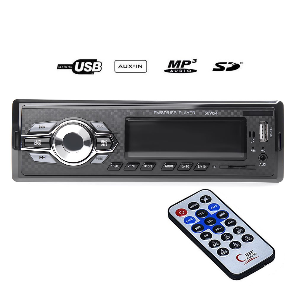 Mp3 player αυτοκινήτου με είσοδο USB/SD/AUX, ραδιόφωνο και χειριστήριο – Carbon 6084 - OEM 51096