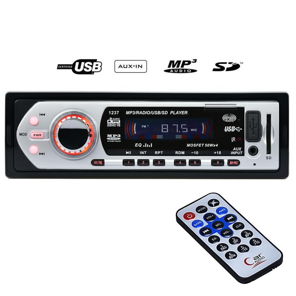Mp3 player αυτοκινήτου με είσοδο USB/SD/AUX, ραδιόφωνο και χειριστήριο – 1237 - OEM 51100