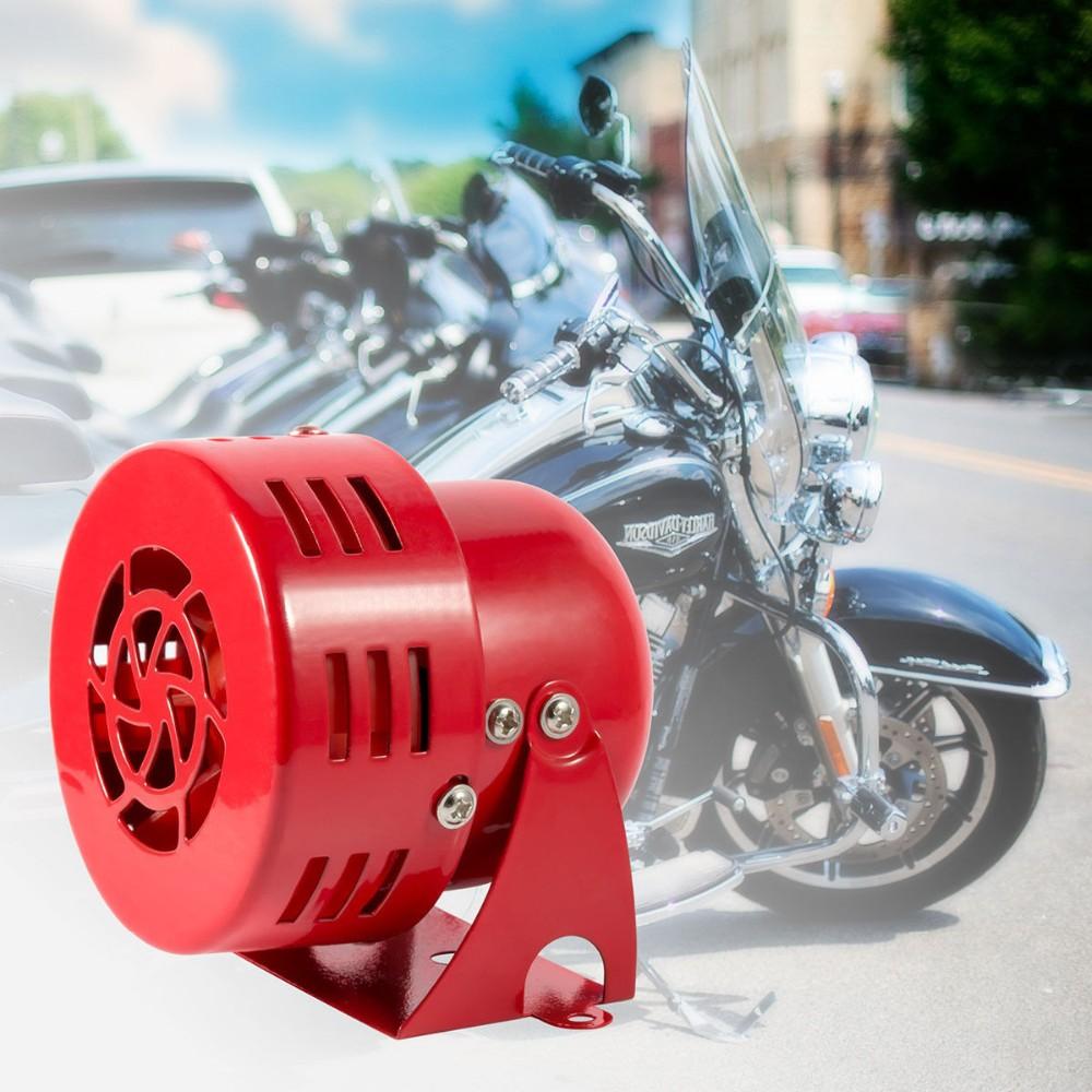 """Μεταλλική ηλεκτρική κόρνα με σειρήνα 3""""/12V/110dB – Κόκκινο - OEM 51117"""