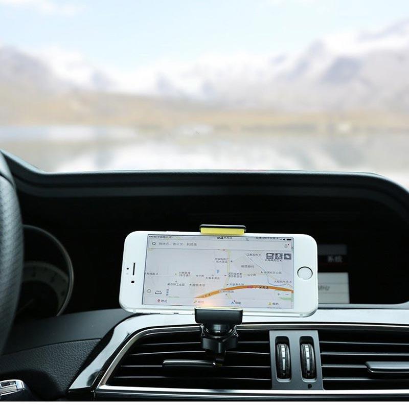 Βάση στήριξης κινητού με κλιπ για τον αεραγωγό του αυτοκινήτου - Μαύρο - OEM 51377