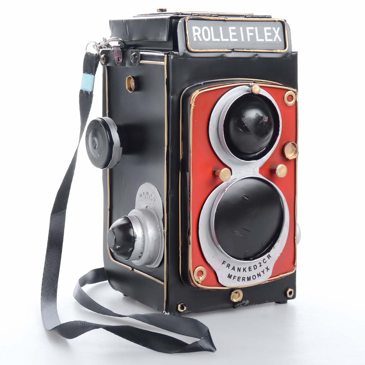 Vintage χειροποίητη διακοσμητική φωτοφραφική μηχανή μεταλλική - OEM 51555