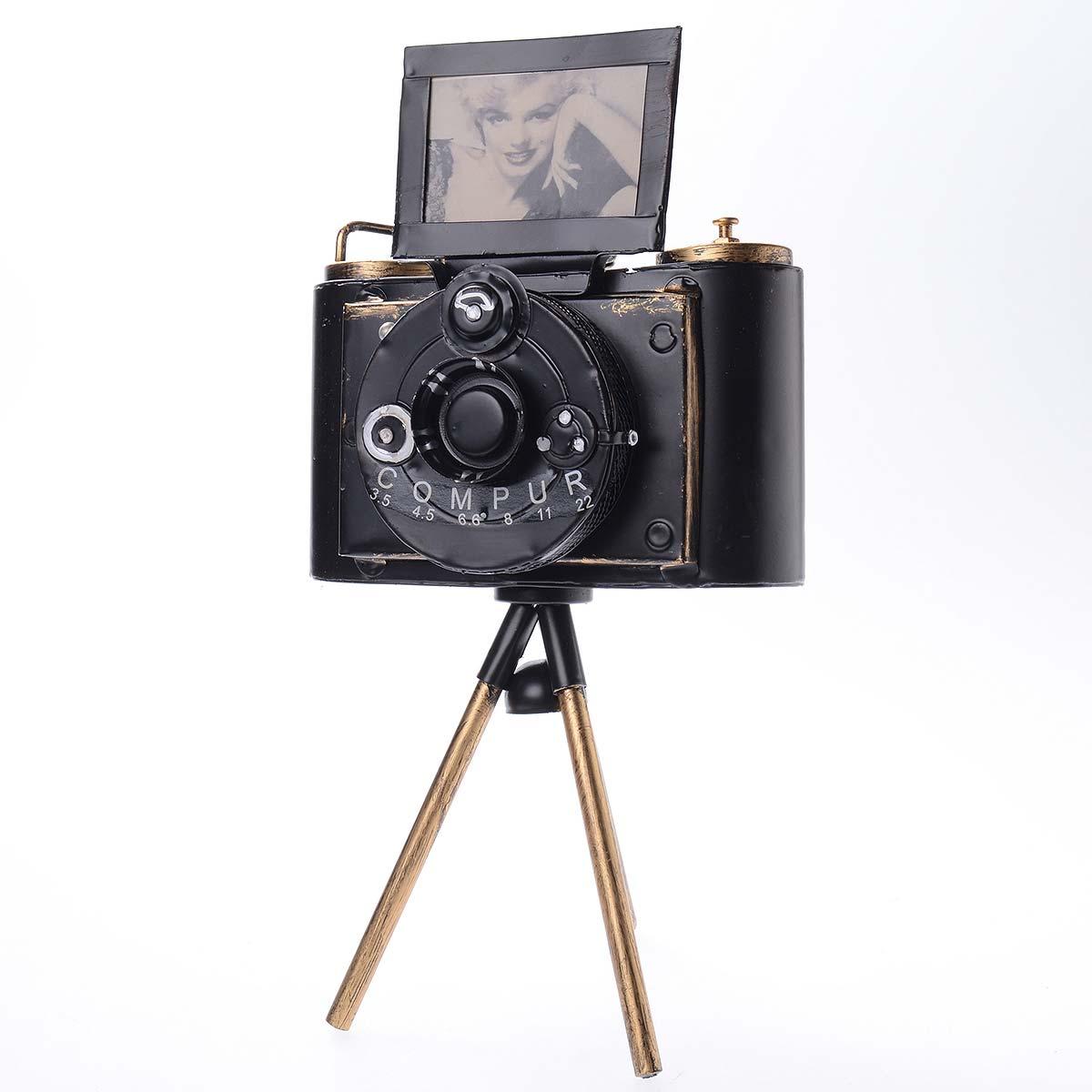 Vintage χειροποίητη διακοσμητική κάμερα μεταλλική με τρίποδο - ΟΕΜ 51557
