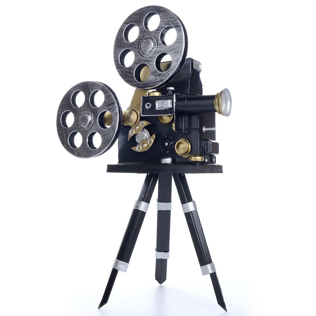 Vintage χειροποίητη διακοσμητική κάμερα μεταλλική με τρίποδο - ΟΕΜ 51560
