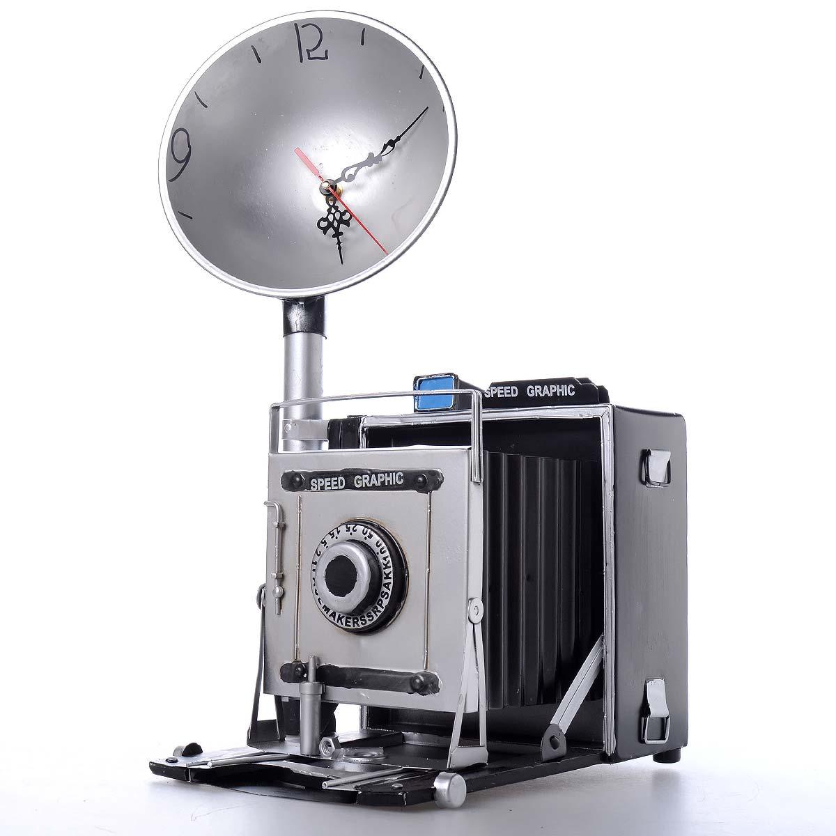 Vintage χειροποίητο διακοσμητικό ρολόι σε στυλ φωτογραφικής μηχανής - OEM 51561