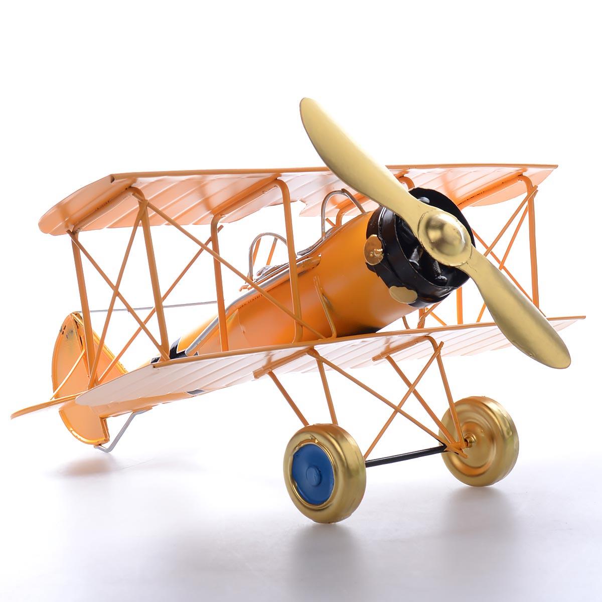 Vintage χειροποίητο διακοσμητικό αεροπλάνο μεταλλικό  - OEM 51635