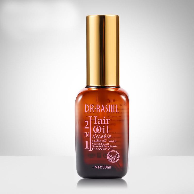 Λάδι μαλλιών με κερατίνη για επανόρθωση της τρίχας - Keratin Deep Repair Hair Oil 50ml - Dr.Rashel DRL-1271 - 51968