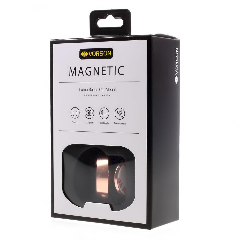 Μαγνητική βάση στήριξης κινητού για το αυτοκίνητο - Pink Gold - Vorson VH-007 - 51976