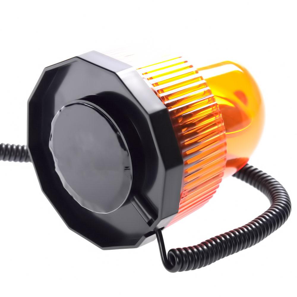 Περιστρεφόμενος μαγνητικός φάρος αυτοκινήτου 12V έκτακτης ανάγκης - Πορτοκαλί - OEM 52062