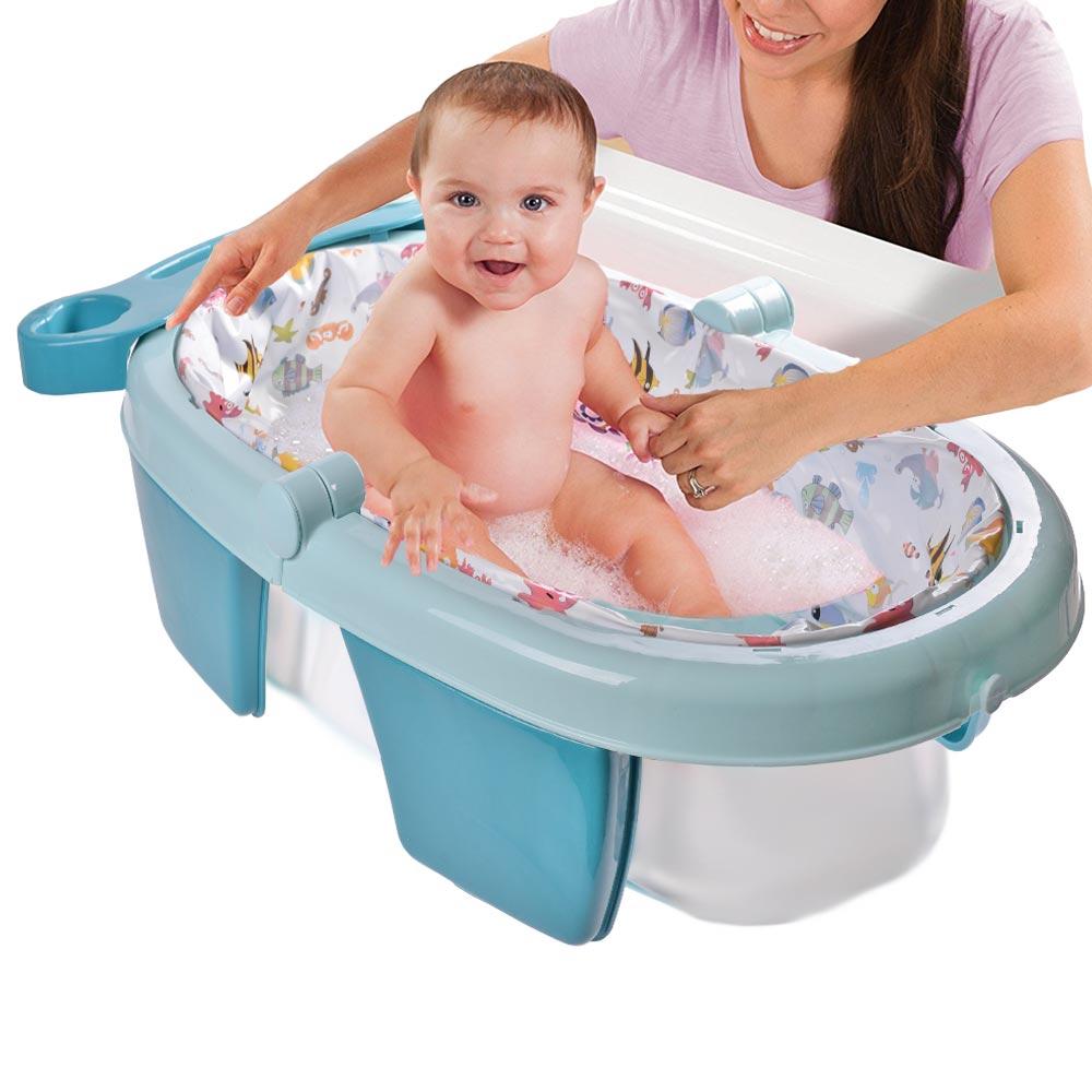 Αναδιπλούμενη βρεφική μπανιέρα - Μπλε - ΟΕΜ 52126