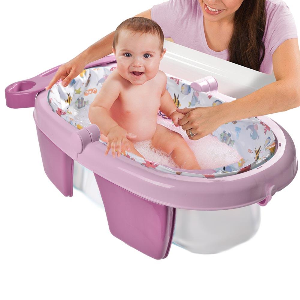 Αναδιπλούμενη βρεφική μπανιέρα - Ροζ - ΟΕΜ 52127