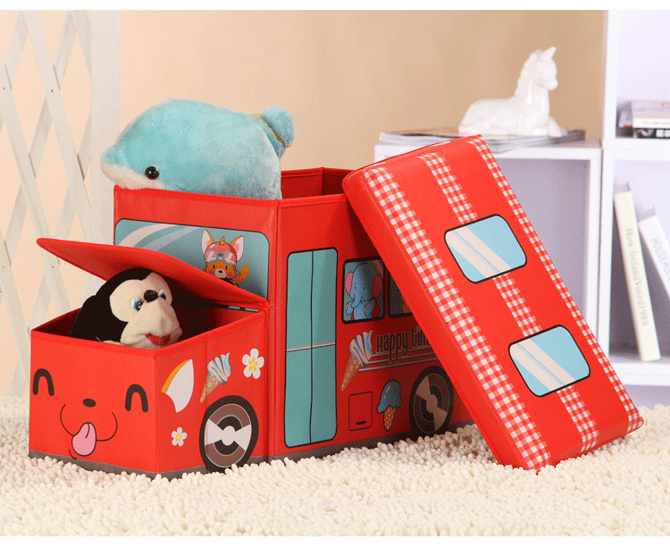 Παιδικό σκαμπώ με χώρο αποθήκευσης και καπάκι - 12L - Μπλε - OEM 52162