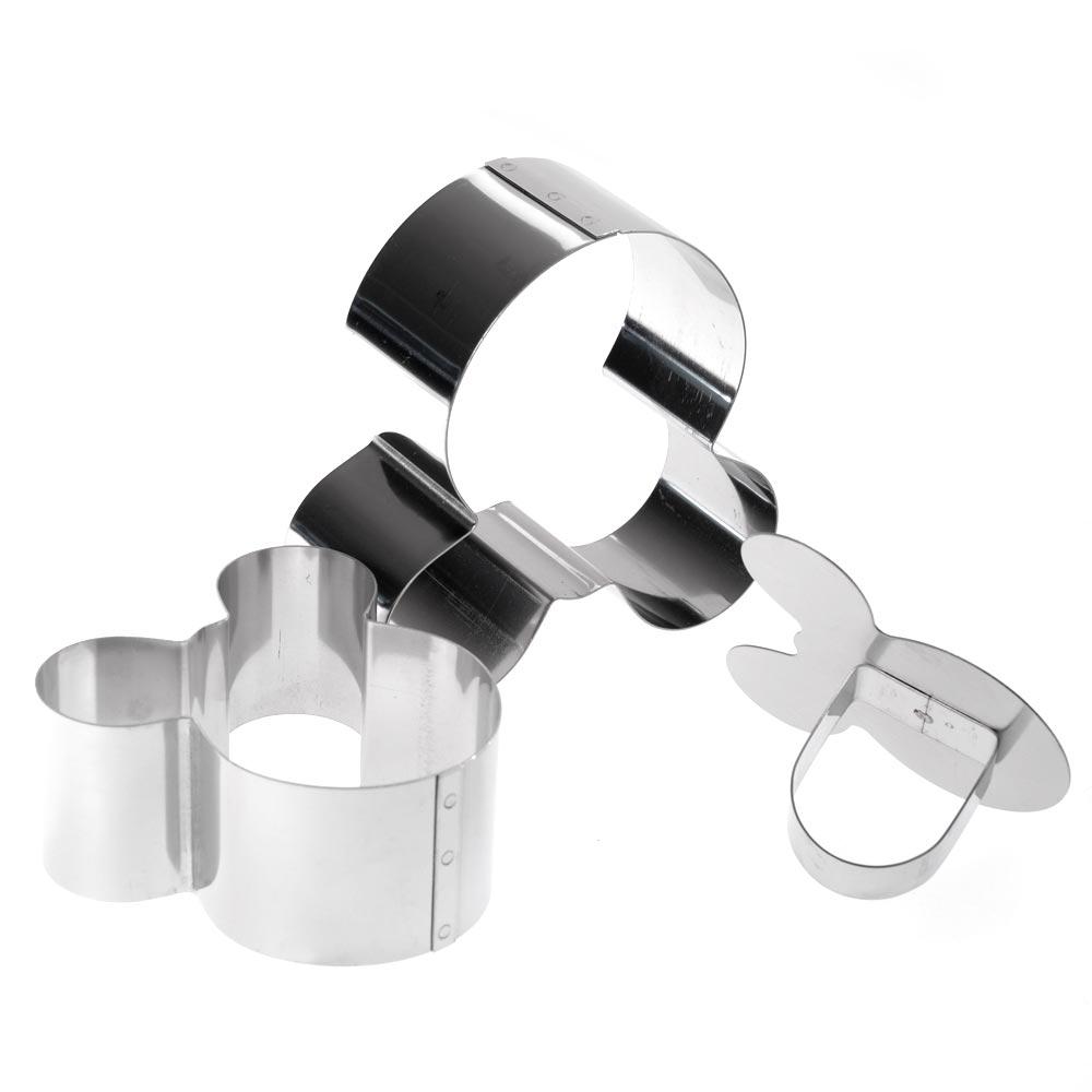 Σετ ανοξείδωτα τσέρκια - κουπάτ ζαχαροπλαστικής Mickey - 3 τεμάχια - OEM 52166