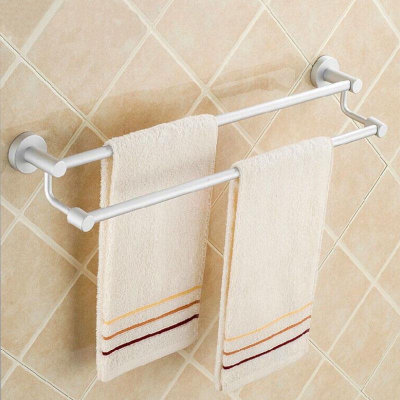 Διπλή βάση πετσέτας βιδωτή για το μπάνιο 60cm - OEM 52189