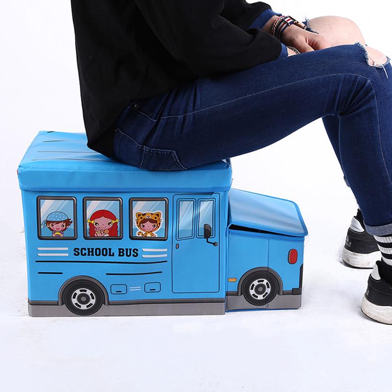 Παιδικό σκαμπώ με χώρο αποθήκευσης και καπάκι - 12L - Κίτρινο - OEM 52268
