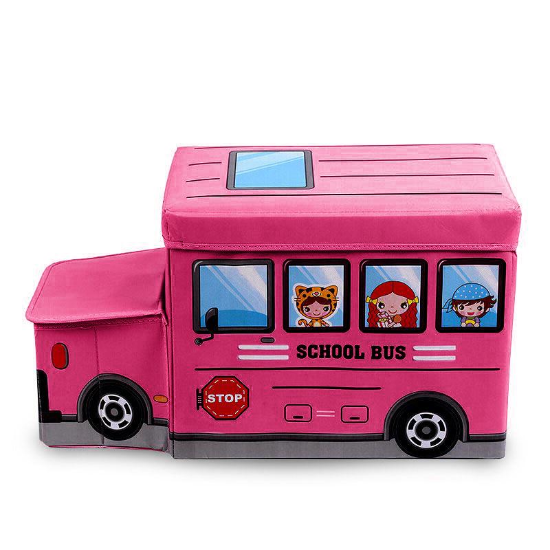 Παιδικό σκαμπώ με χώρο αποθήκευσης και καπάκι - 12L - Φούξια - OEM 52269 - 52270