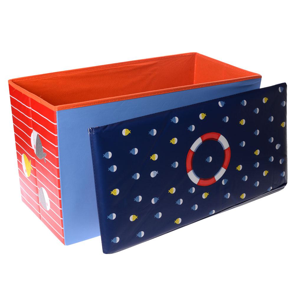Παιδικό σκαμπώ με χώρο αποθήκευσης και καπάκι - 50L - Nautical - OEM 52292