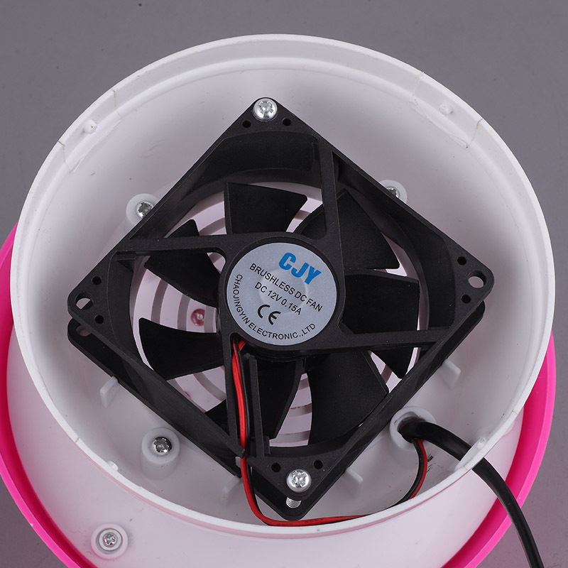 Λάμπα εντομοαπωθητική αθόρυβη με 6 LED σε σχήμα μανιταριού - Ροζ - ΟΕΜ 52312