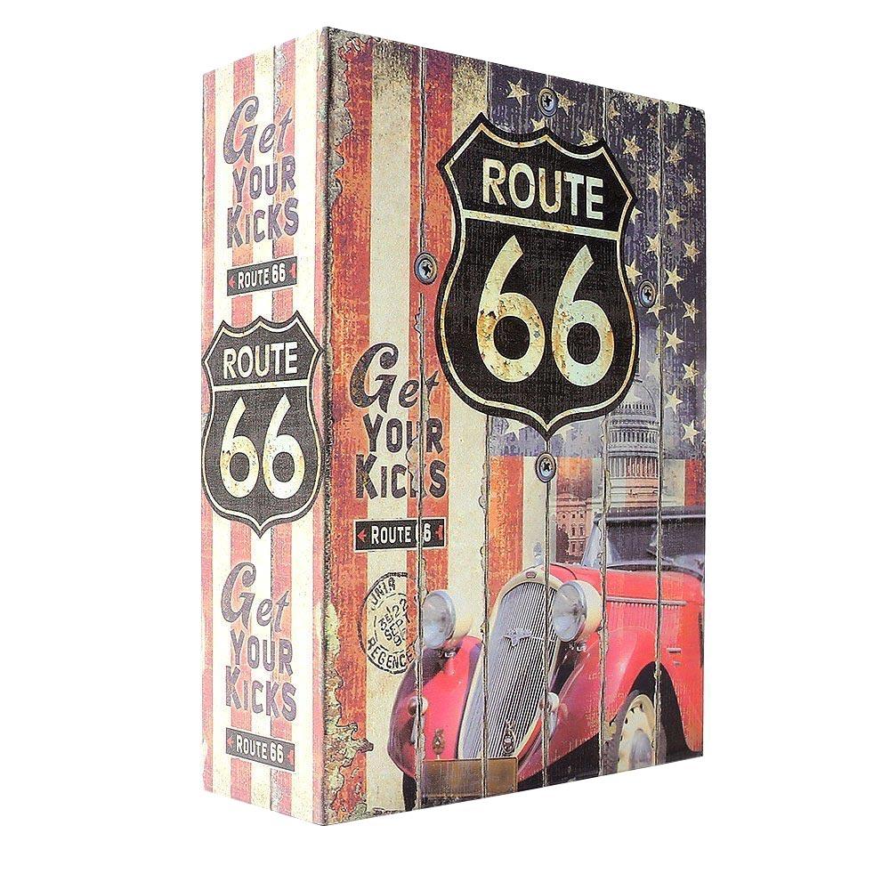 Χρηματοκιβώτιο ασφαλείας με κωδικό σε βιβλίο Route 66 - 26.5x20x6.5cm - OEM - 52342