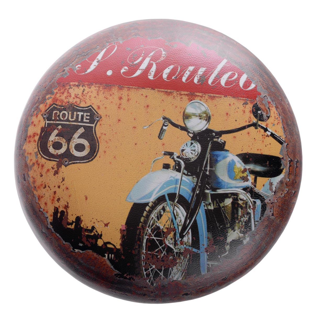 "Vintage διακοσμητικά σκαμπώ με χώρο αποθήκευσης ""Route 66"" - σετ 3 τεμαχίων - OEM 52353"