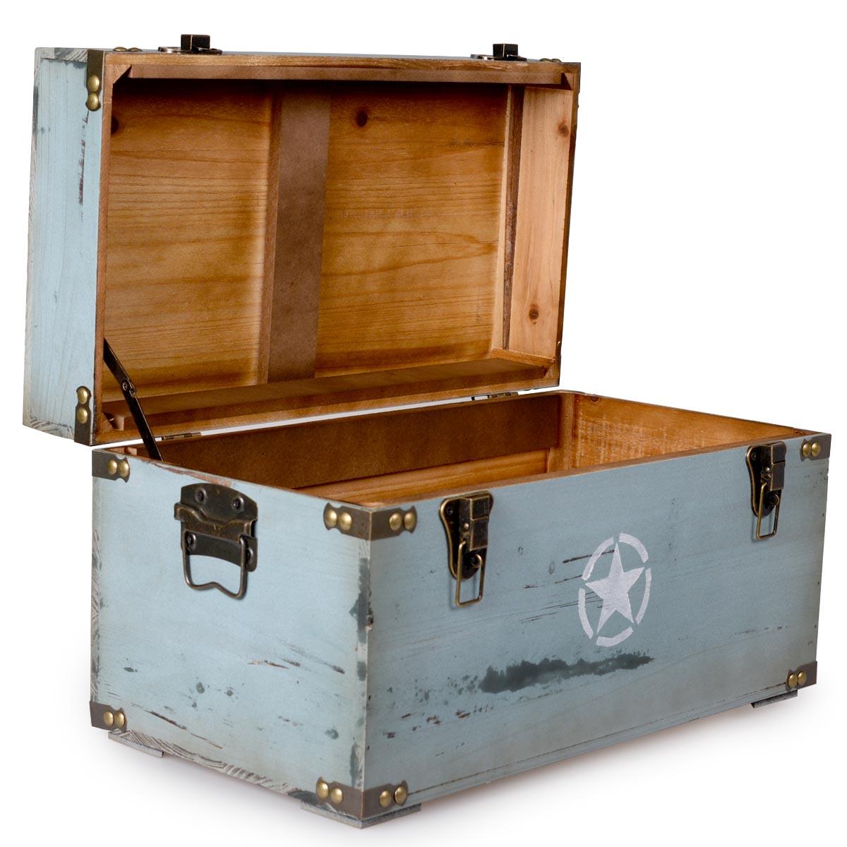 Ξύλινα κουτιά αποθήκευσης με χερούλια - Σετ 3 τεμαχίων - OEM 52356