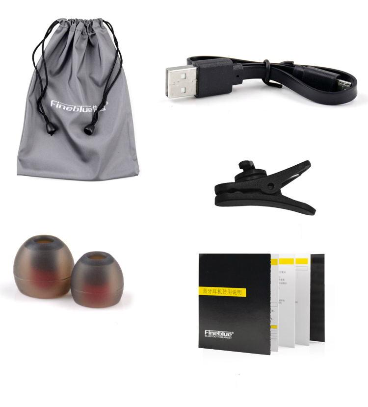 Ασύρματο ακουστικό Bluetooth Fineblue με μικρόφωνο - White - FL-C8 - 52419