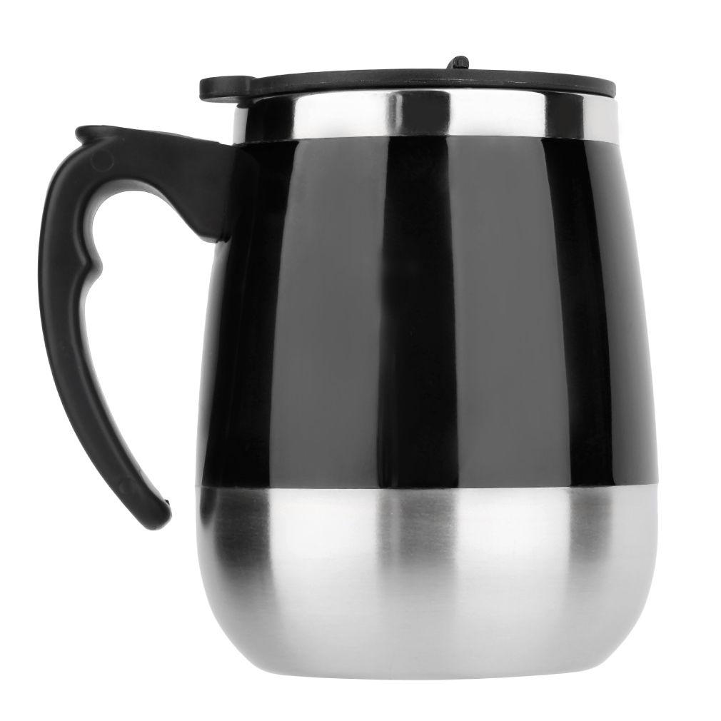 Κούπα που ανακατεύει μόνη της 450ml με καπάκι - Μαύρο - OEM 52463