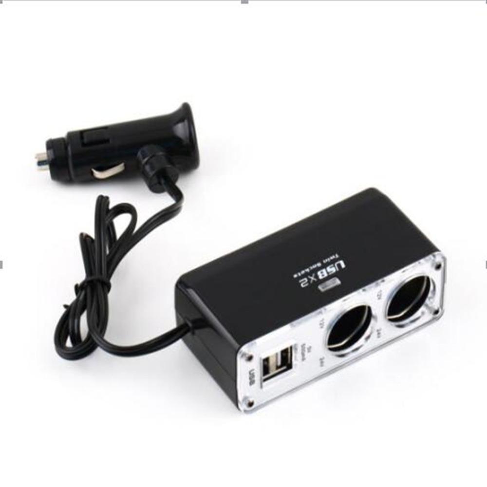 Πολύπριζο αναπτήρα αυτοκινήτου με 2 παροχές και 2 θύρες USB - ΟΕΜ 52503
