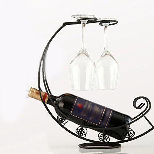 Σετ βάση για μπουκάλι με 2 ποτήρια κρασιού - OEM 52532