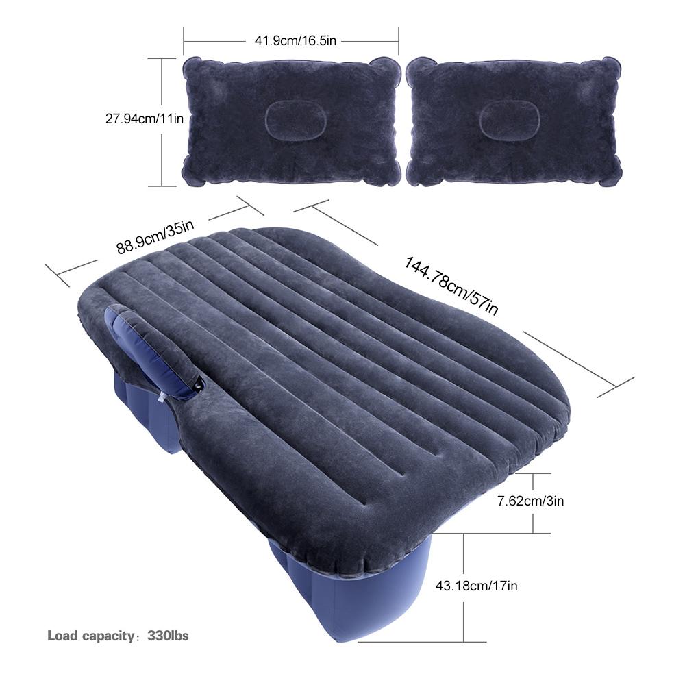 Φουσκωτό στρώμα ταξιδιού για το πίσω κάθισμα του αυτοκινήτου - Μαύρο - OEM 52635