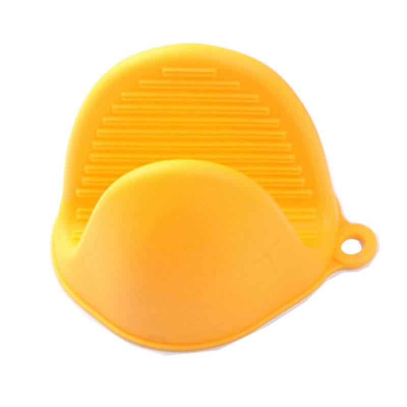 Μίνι γάντι φούρνου από σιλικόνη - 2 τεμάχια - Κίτρινο - OEM 52651