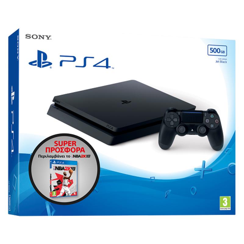 Sony Playstation 4 (PS4) Slim 500GB & NBA 2K18 - Sony 52653