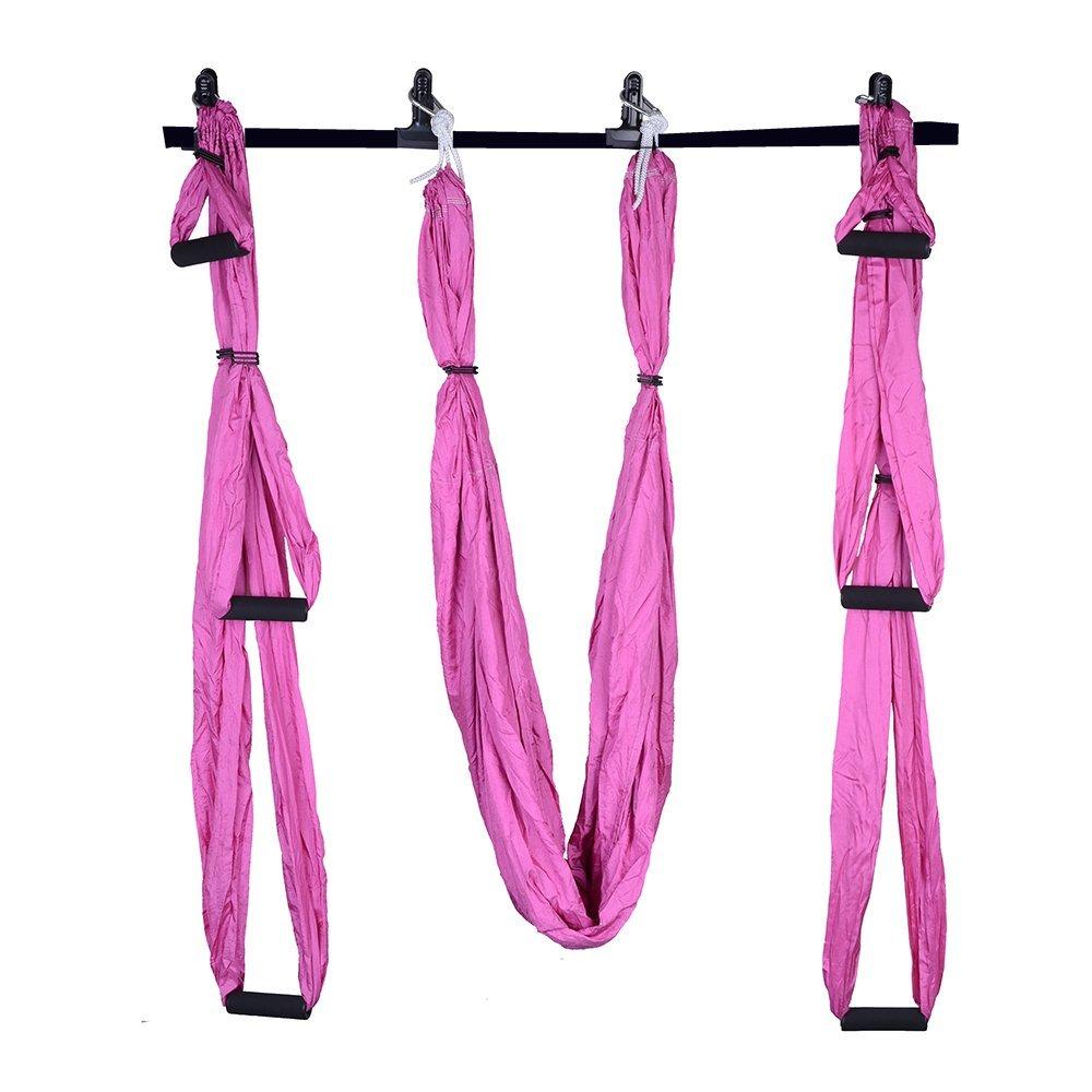 Aerial swing με λαβές για yoga και pilates - Ροζ - OEM 52671