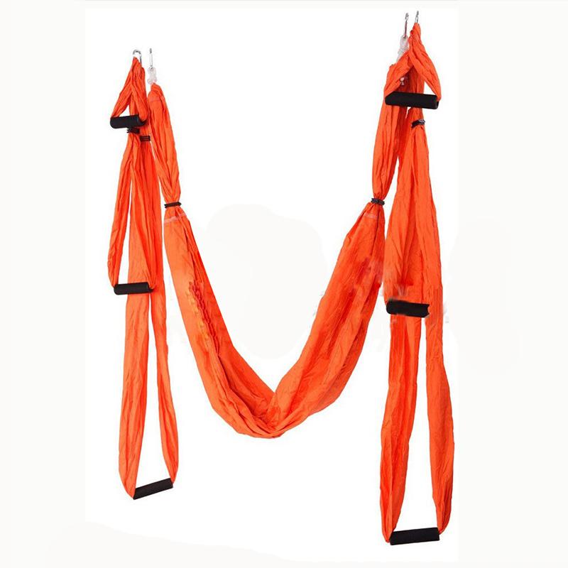 Aerial swing με λαβές για yoga και pilates - Πορτοκαλί - OEM 52673