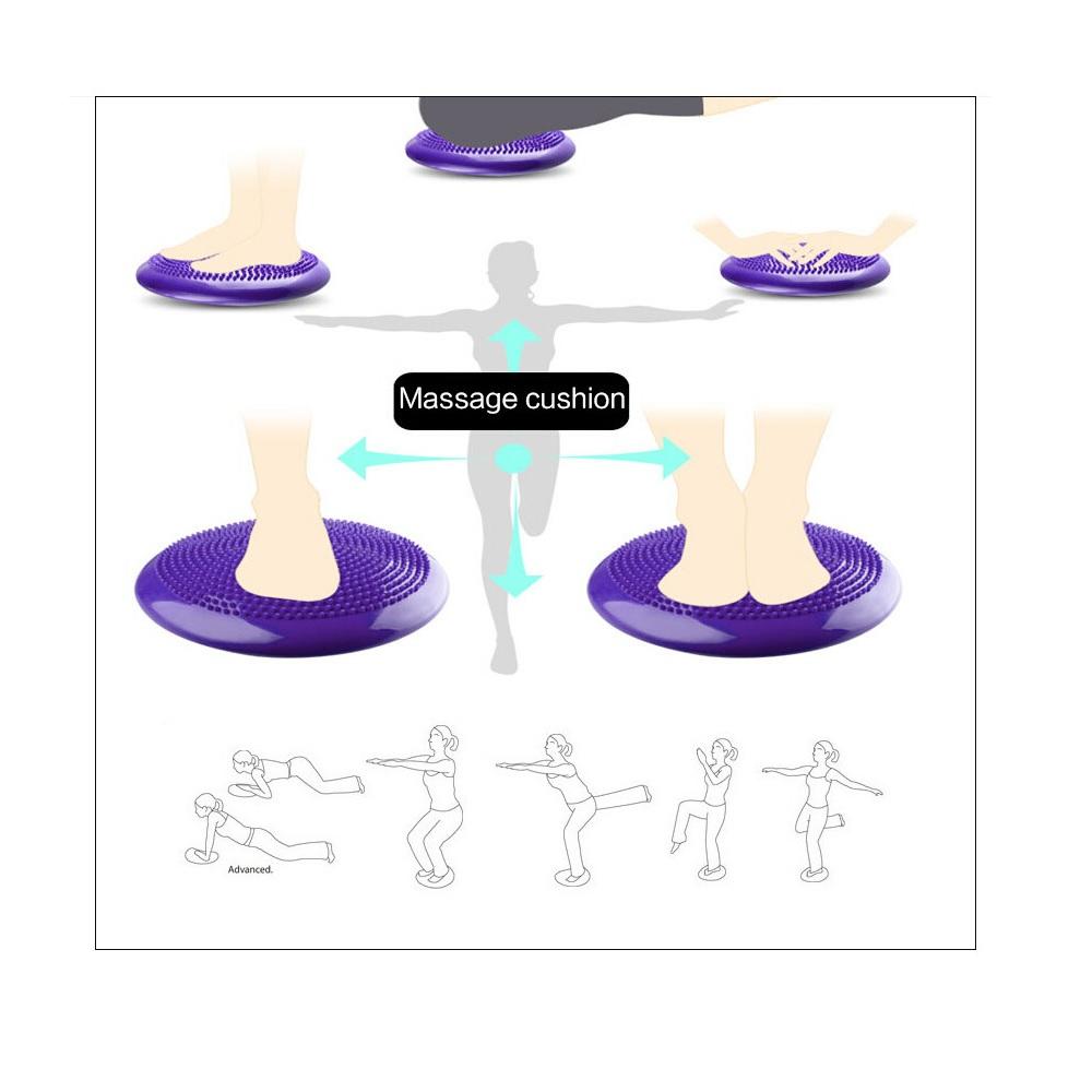 Δίσκος ισορροπίας και αποκατάστασης φουσκωτός - Μωβ - OEM 52693