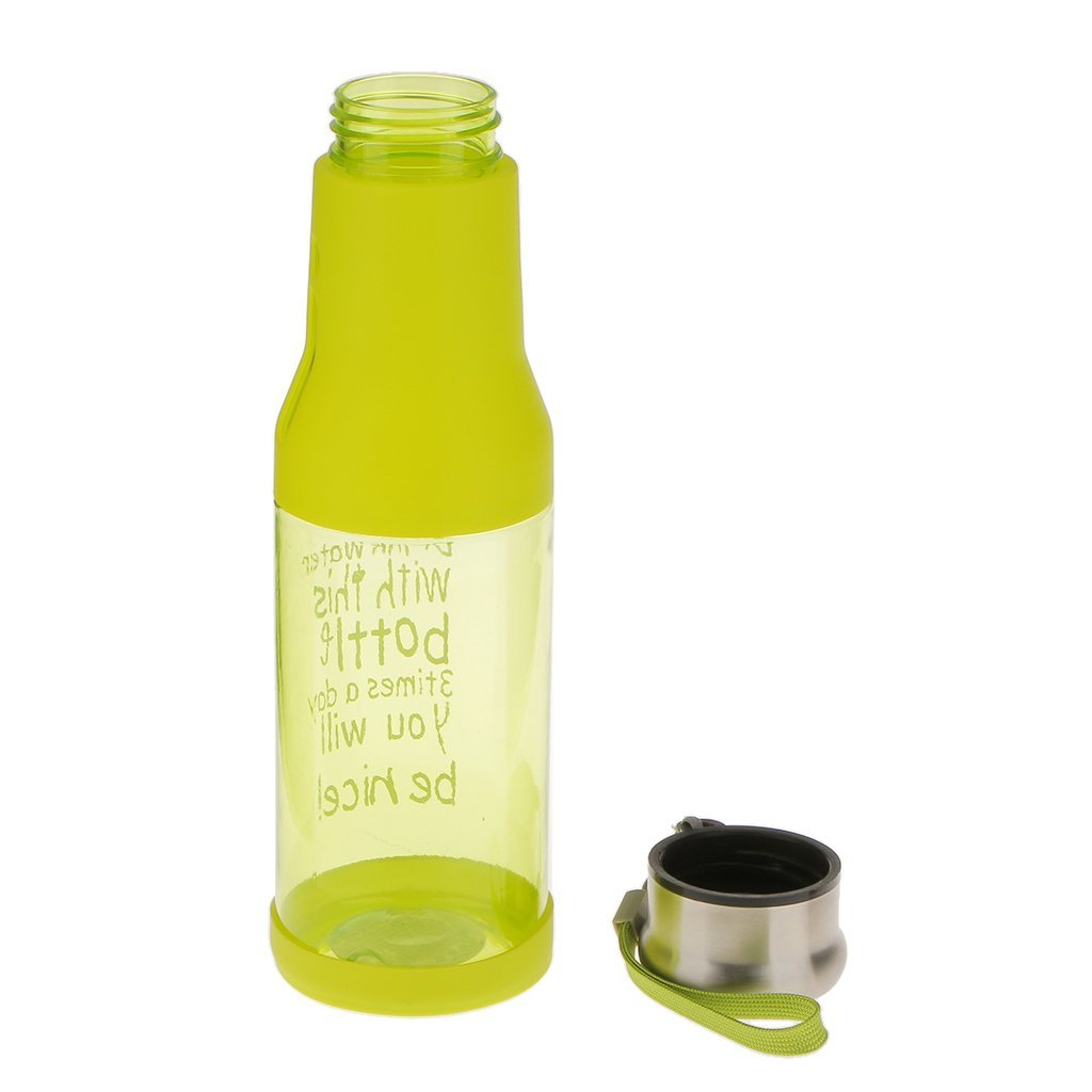 Μπουκάλι νερού 500ml με καπάκι χωρίς διαρροές - Πράσινο - OEM 52696