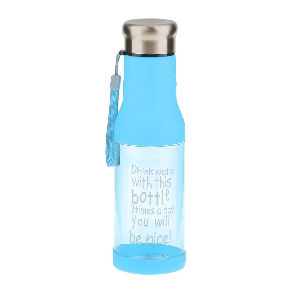 Μπουκάλι νερού 500ml με καπάκι χωρίς διαρροές - Μπλε - OEM 52697