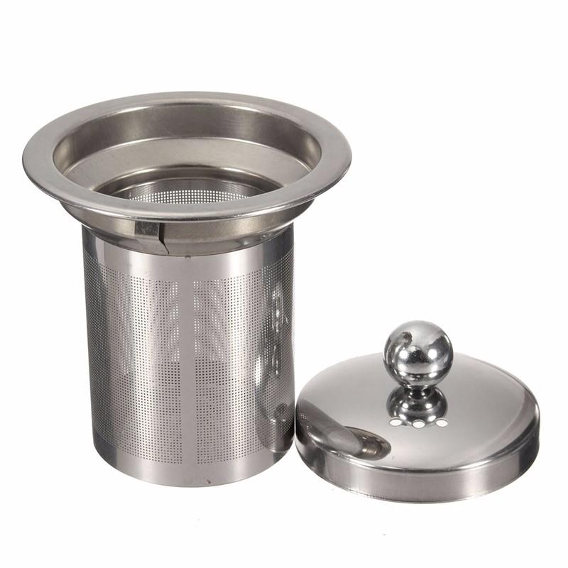 Γυάλινη τσαγιέρα με ανοξείδωτο φίλτρο στρογγυλή - 1300ml - OEM 52699