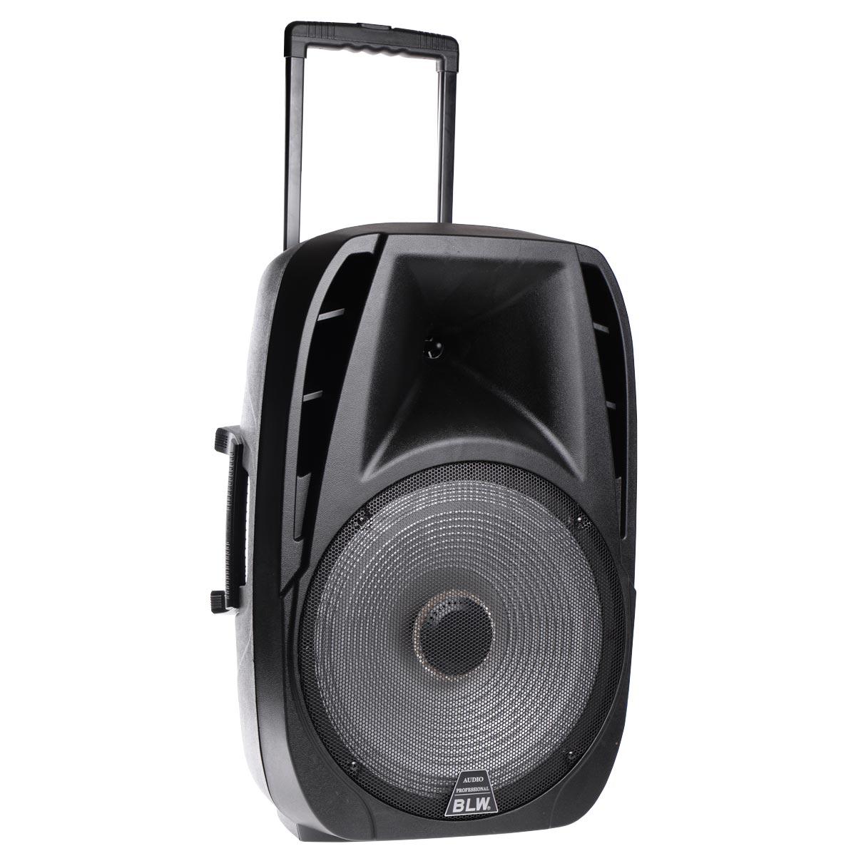 """Αυτο-ενισχυόμενο ηχείο με LED 15"""" με FM, Bluetooth, είσοδο SD/USB/AUX, ασύρματο μικρόφωνο και είσοδο κιθάρας - T15 - OEM 52730"""