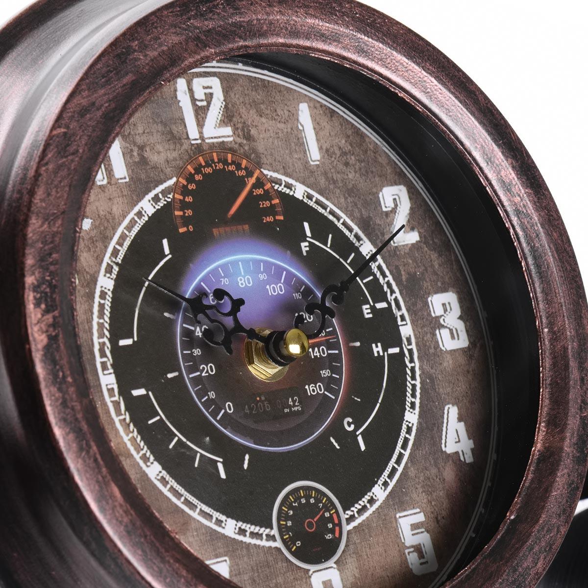 Vintage χειροποίητο διακοσμητικό ρολόι - αεροπλάνο μεταλλικό - OEM 52731