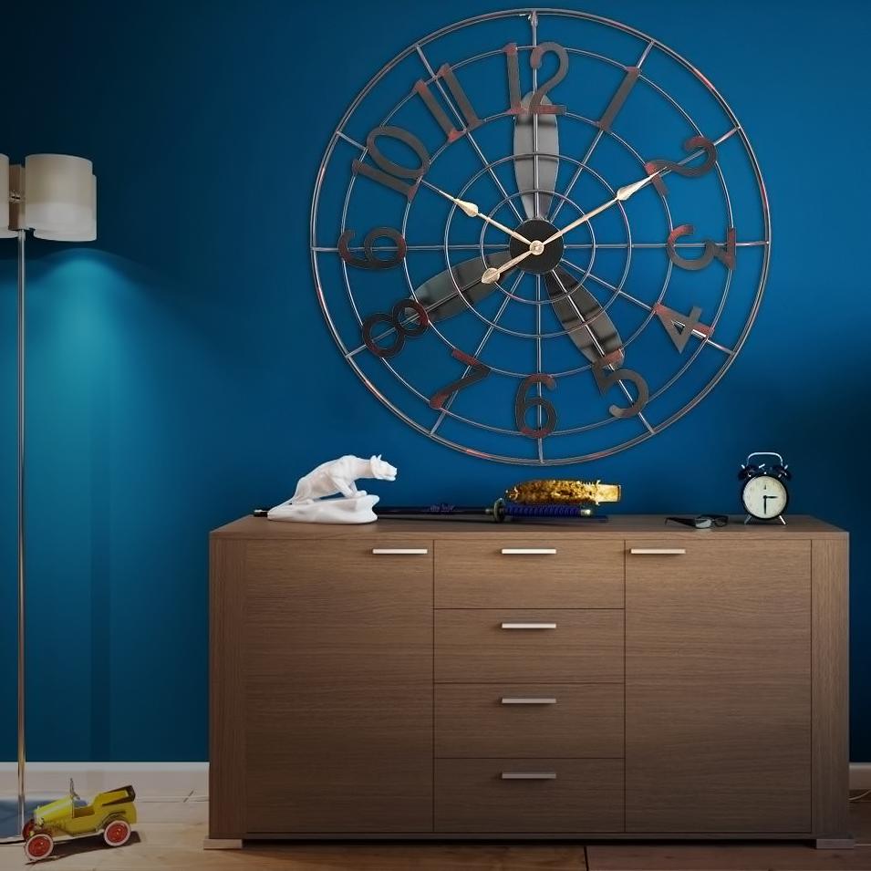 Vintage χειροποίητο διακοσμητικό ρολόι - έλικας μεταλλικό - OEM 52733