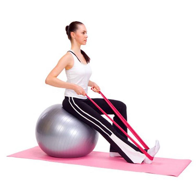 Ελαστικός ιμάντας αντίστασης για  εκγύμναση yoga και pilates 1.5m - Κόκκινο - OEM 52745