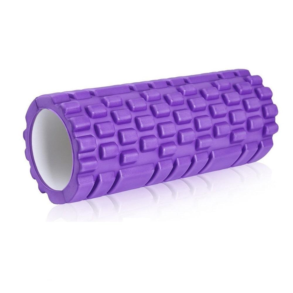 Κύλινδρος EVA ισορροπίας και μασάζ yoga-pilates roller - Μωβ - OEM 52749