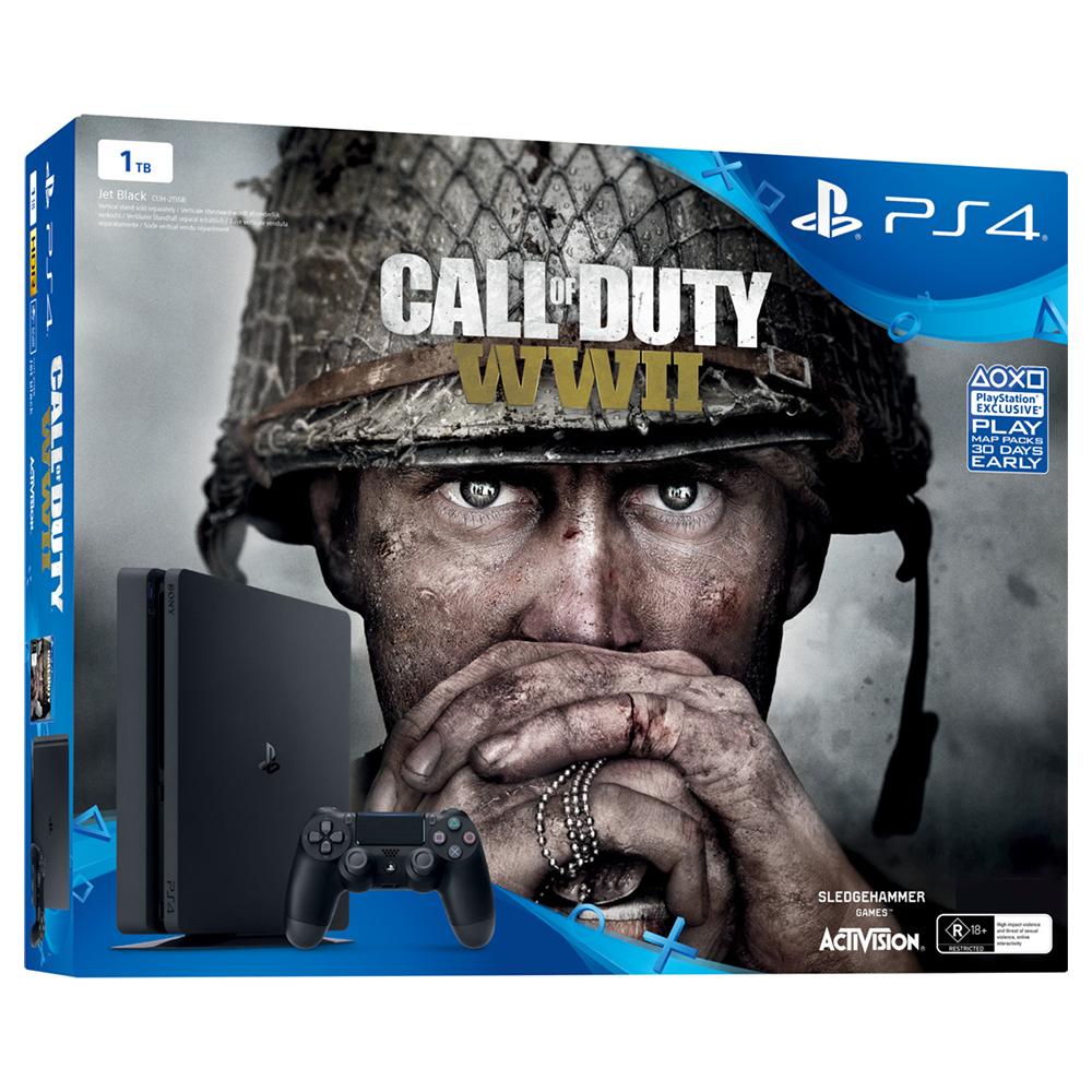 Sony Playstation 4 (PS4) Slim 1TB & Call of Duty WWII - Sony 52787