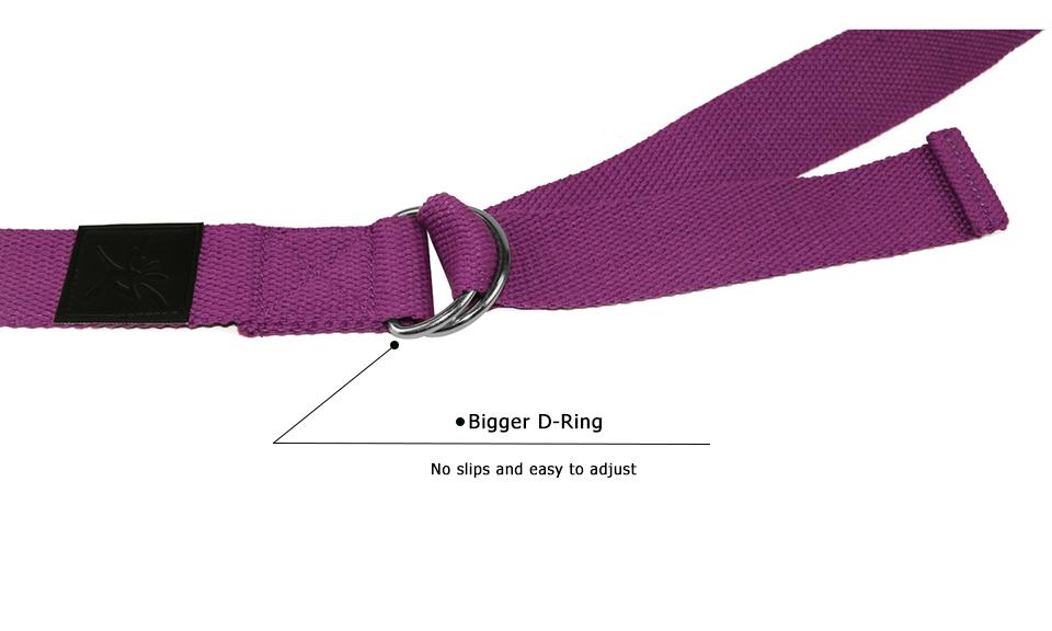 Ζώνη 180 εκατοστά stretching belt για yoga και pilates - Γκρι Ανοιχτό - OEM 52798
