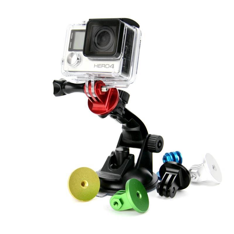 Αντάπτορας - βάση GoPro αλουμινίου για τρίποδο και selfie μονόποδο - Μαύρο - OEM 52812
