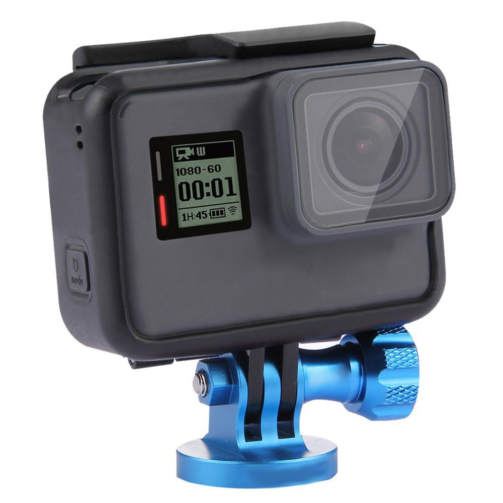 Αντάπτορας - βάση GoPro αλουμινίου για τρίποδο και selfie μονόποδο - Μπλε - OEM 52813