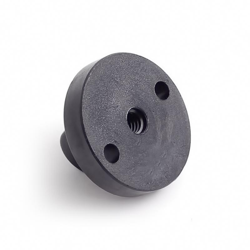 Στρογγυλός αντάπτορας - βάση action κάμερας για τρίποδο και selfie μονόποδο - Μαύρο - OEM 52830